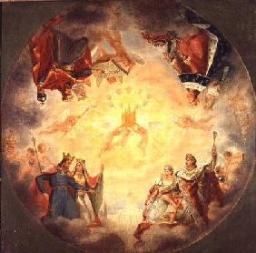 Glory of St. Genevieve, study for the cupola of the Pantheon c.1812