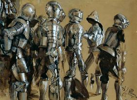 Armour, 1866 (gouache on paper mounted on card) 19th