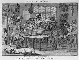 Christmas in the Country; engraved by Inigo Barlow