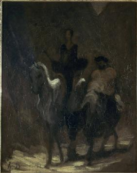 Daumier, Don Quichote u. Sancho Pansa