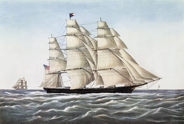The Clipper Ship Flying Cloud , published by  Currier & Ives