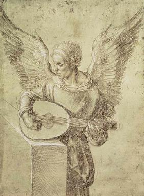 Angel playing a lute 1491