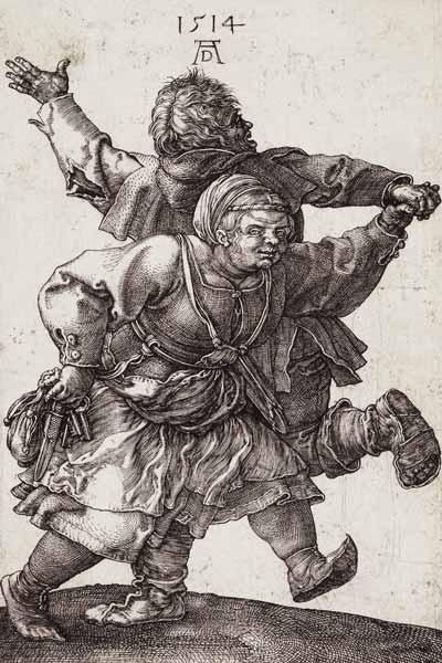Dürer / Dancing Peasant Couple / 1514