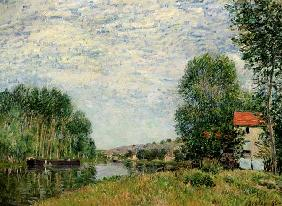 The Banks of the Loing at Moret 1886