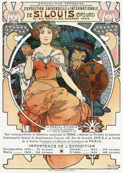 Poster for the Universal and International Exhibition in St.Louis, 1904.
