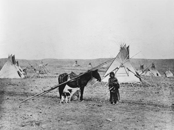 Comanche Indian (b/w photo)  1877