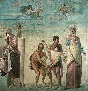 The Sacrifice of Iphigenia, from the House of the Tragic Poet, Pompeii 4th decora