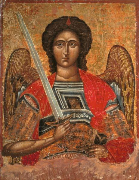 Icon of the Angel Michael Greek 18th centu