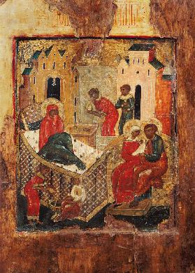 The Birth of the Virgin, Russian (Moscow) 16th