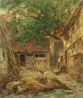 A Farmhouse Courtyard 1862