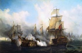The Redoutable at Trafalgar 21st Octob