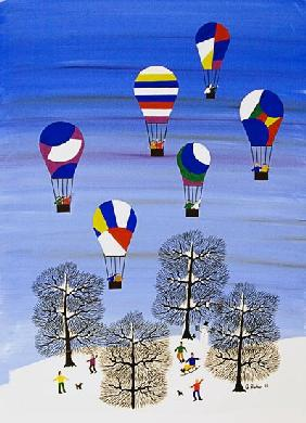 Winter day balloons