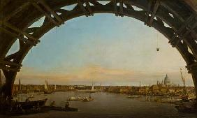 London seen through an arch of Westminster Bridge 1746-7