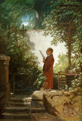 Reading the Paper in Garden / C.Spitzweg