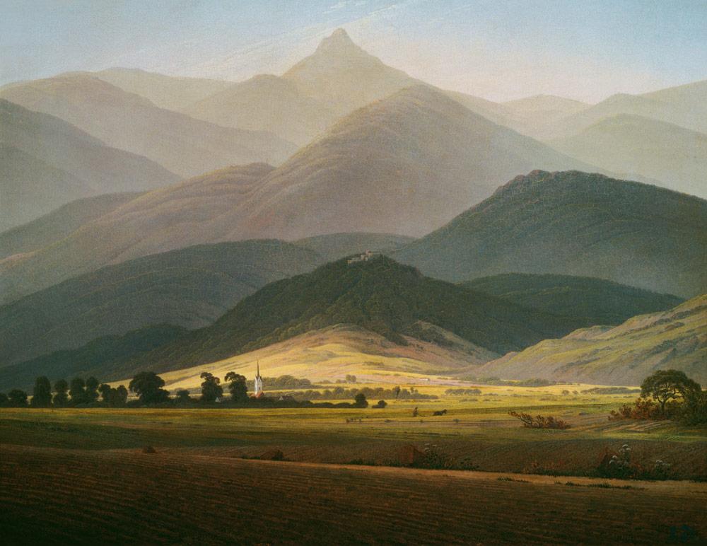 Riesengebirgslandschaft - Caspar David Friedrich als
