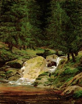 The Evergreens by the Waterfall 1828