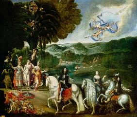 Allegory of the Marriage of Louis XIV (1638-1715)
