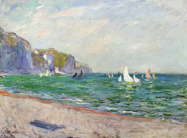 Boats below the Cliffs at Pourville 1882