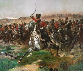Vive L'Empereur (Attacke des 4. Husarenregiments in der Schlacht bei Friedland am 14. Juni 1807= 1891