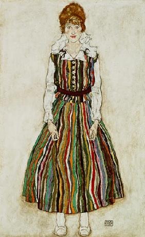 Portrait of Edith Schiele, the artist's wife 1915