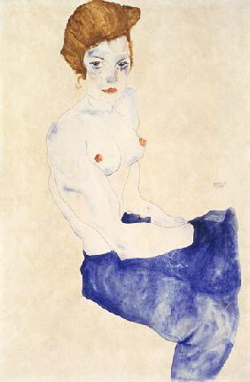 Seated blue nude 1911