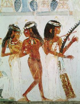 Musicians and a Dancer, from the Tomb of Nakht, New Kingdom