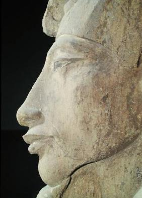 Bust of Amenophis IV (Akhenaten) (c.1364-1347 BC) from the Temple of Amun, Karnak c.1353-133