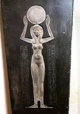 The Goddess Nut Raising the Sun, from the reverse of the lid of the Djedhor sarcophagus c.378-341