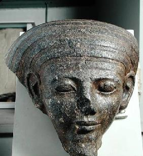 Head of a priest, from a sarcophagus, New Kingdom c.1350 BC