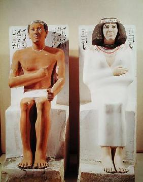 Rahotep and his Wife, Nofret c.2620 BC