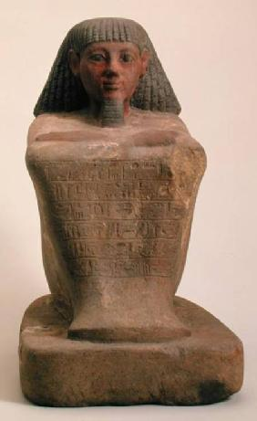 Statue of the Scribe Maaniamen, mid 15th century BC, New Kingdom