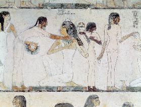 The Toilet of Noblewomen, from the Tomb of Rekhmire, vizier of Tuthmosis III and Amenhotep II, New K
