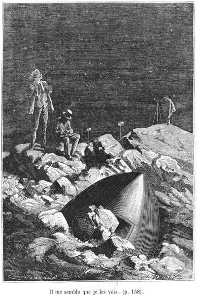 Illustration from ''From the Earth to the Moon'' Jules Verne (1828-1905) Paris, Hetzel, published in