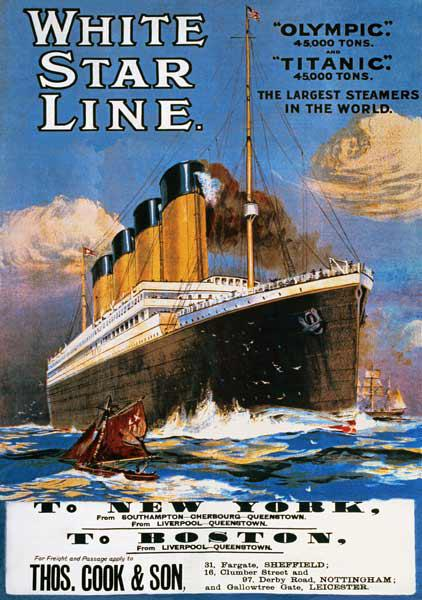 Poster advertising the White Star Line 1911