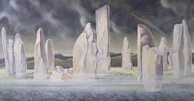 The Callanish Legend, Isle of Lewis, 1991 (w/c and pastel)