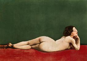 Nude Stretched out on a Piece of Cloth 1909