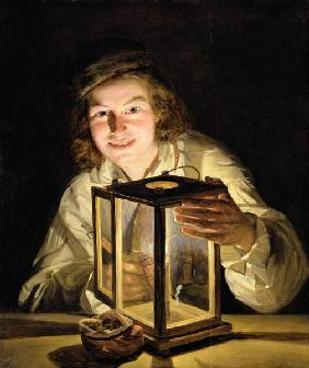 The Young Stableboy with a Stable Lamp 1824