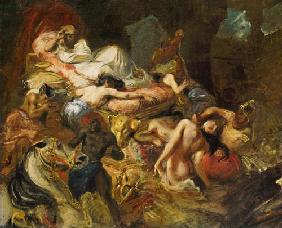 Study for The Death of Sardanapalus before 182