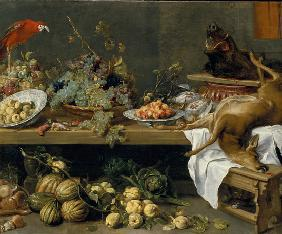 Still life with fruit, vegetables and dead game 1635