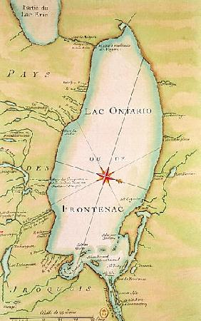 Map of Lake Ontario - French School als Kunstdruck oder handgemaltes ...