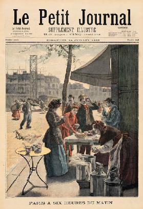 Paris at Six O''Clock in the Morning, from ''Le Petit Journal' 1895