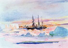 Aurora Australis, illustration from ''The Heart of the Antarctic: The Nimrod Expedition to the South