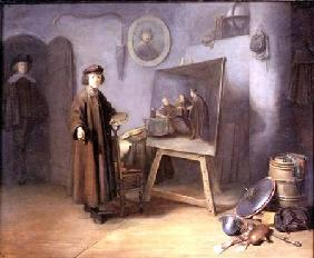 A Painter in his Studio (panel)