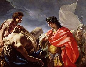 Achilles Contemplating the Body of Patroclus