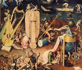 The Garden of Earthly Delights: Hell, detail from the right wing of the triptych c.1500