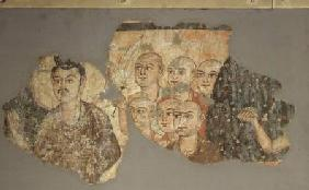 Buddha with his Six Disciples, from Miran 3rd-4th ce