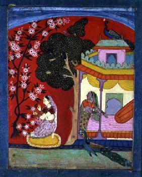 A Lady Plucking Blossoms, Southern Rajasthan or Deccan c.1675