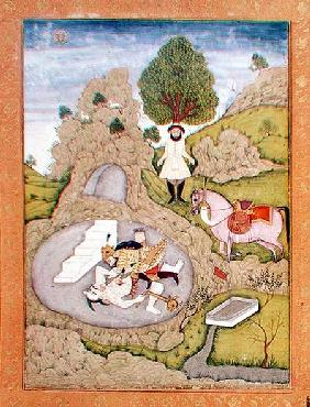 Rustam killing the White Demon, from the 'Shahnama' (Book of Kings), by Abu'l-Qasim Manur Firdawsi ( 17th centu