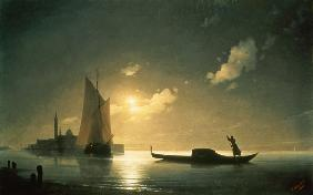 Gondolier at Sea by Night 1843