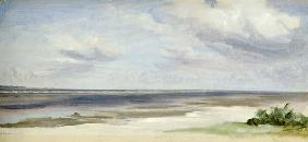 A Beach on the Baltic Sea at Laboe 1842  on p